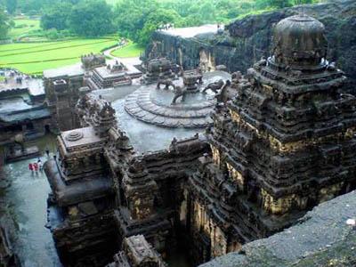 пещеры Эллоры, храм Кайласанатха, Индия