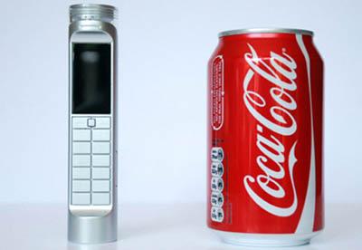 Концептуальный эко-гаджет – мобильный телефон, работающий на Coca-Cola