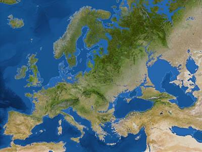 Карта Земли после таяния всех ледников